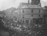 Fleshers' parade in Castle Street and Church Place