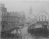 Sanger's Circus parade moving down High Street