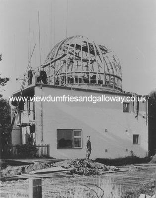 Dome and observatory under construction
