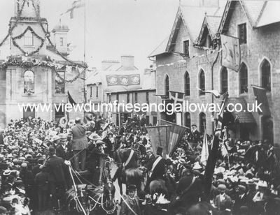 Common Riding procession in Market Place