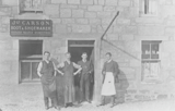 James Carson's shop and staff
