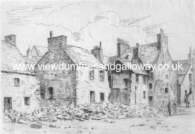 Old houses - Queensberry Square, Dumfries
