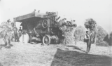Threshing mill in use at the harvest