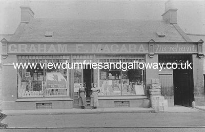 Graham F Macara's shop and staff