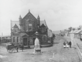 Sanquhar Town Hall and Church Road