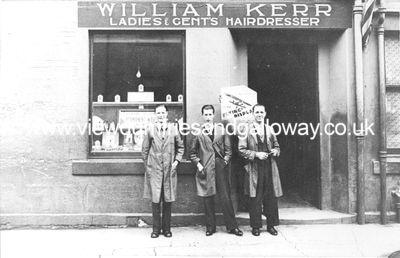 William Kerr's Hairdresser's shop and staff