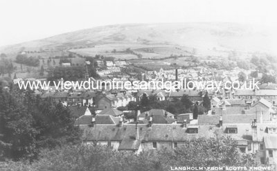 Langholm from Scott's Knowe