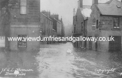 River Nith in flood at Dumfries on 2nd March 1910
