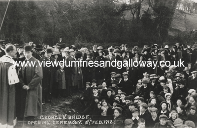 George V Bridge opening ceremony, Newton Stewart