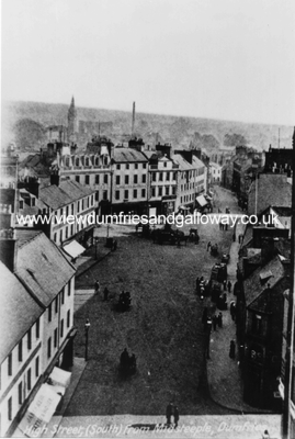 Dumfries High Street (south) from Midsteeple