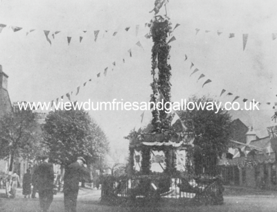 The Cross decorated for 6th Duke's Silver Jubilee