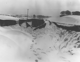 Snow drifts and plough at Clarebrand
