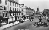 Dumfries High Street showing County Hotel