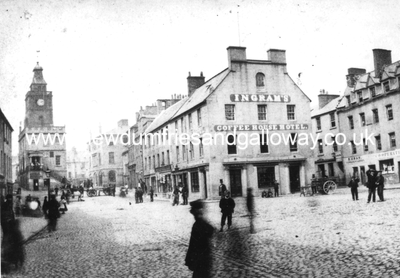 Dumfries High Street showing Ingram's Coffee House Hotel