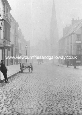 Dumfries High Street from Midsteeple to Greyfriars