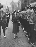 KOSB inspection by HM Queen