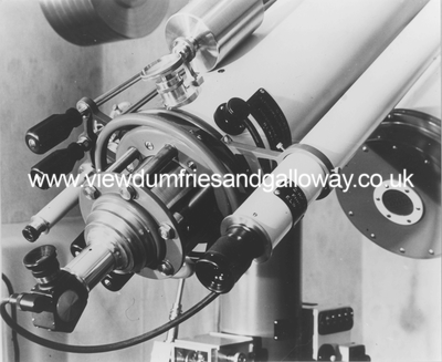 "Eyepiece end of the 6"" refracting telescope"